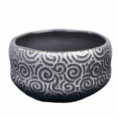 onyx galaxy tea bowl