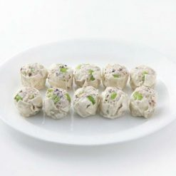 Shumai dumpling with Edamame (green soybeans) and mixed grains available here