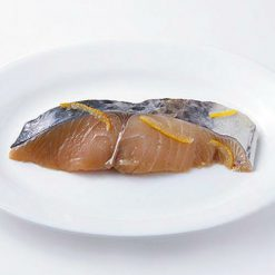 """Cold Japanese Spanish mackerel marinated in traditional Japanese """"yuzuan"""" style with sweet yuzu citrus available here"""