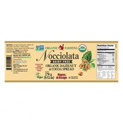 Nocciolata's organic and vegan hazelnut chocolate spread 270gB