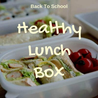 back to school set healthy lunch box