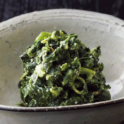 Spinach with sesame sauce-A