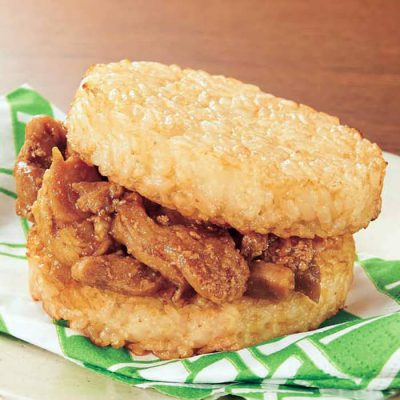 Teriyaki chicken rice burger-A