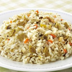 Pilaf with mustard greens-A