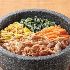 Spicy bibimbap (Korean mixed rice with veggies) ingredients-A