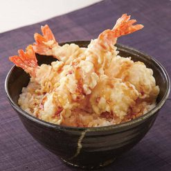 Tempura-fried shrimp and sauce for tendon-A