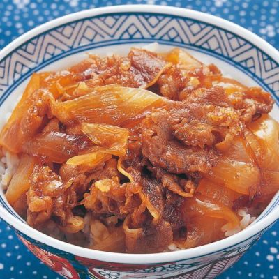 Economical gyudon (beef bowl) ingredients-A