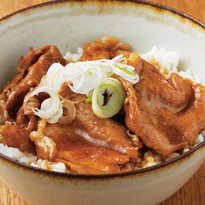 Butadon (pork bowl) ingredients.-A
