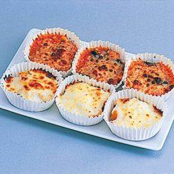 Bento box-sized mini gratins (eggplant with meat & kabocha pumpkin with cream)-B