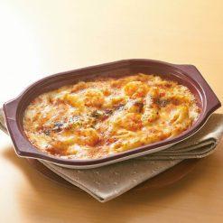 Microwaveable Shrimp au Gratin-A