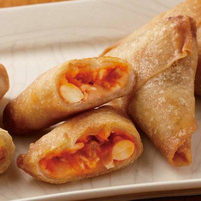 Triangular spring rolls (curry