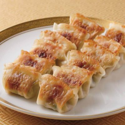 Bite-sized hot ginger gyoza (dumplings)-A