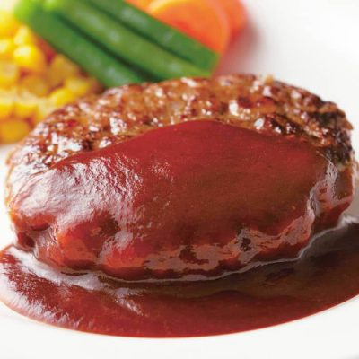 Boiled hamburger (in demi-glace sauce)-A