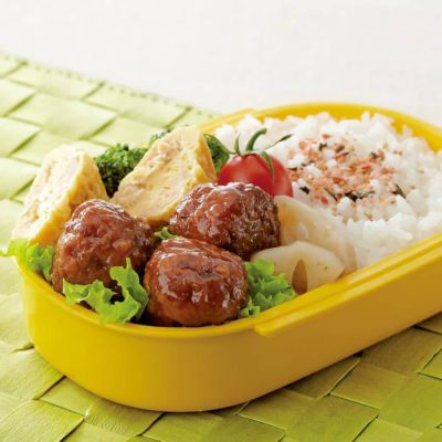 Stuffed meatballs with char siu pork-A