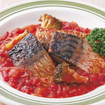 Braised mackerel in tomato sauce-A