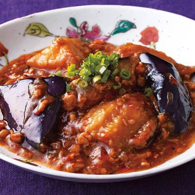 Ma Po eggplant with ground chicken-A