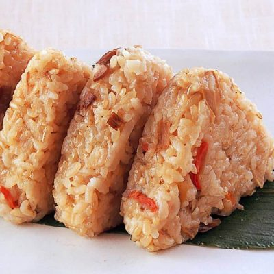 Sprouted brown rice onigiri (made with five mixed vegetables)-A