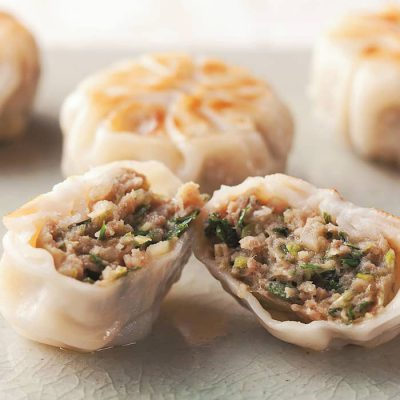 Garlic chive manju (Chinese dumplings)-A