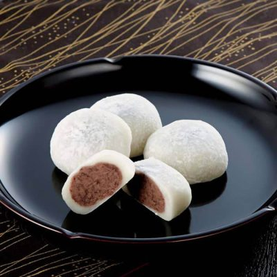 Shio Daifuku (Sweet rice cake with hint of salt and half ground redbean paste)-A