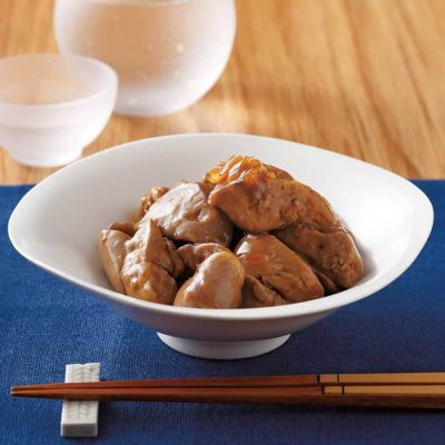 Soft boiled chicken liver-A