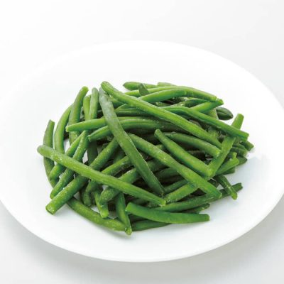 Organic Blue Lake string beans-A