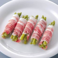 Pork wrapped asparagus-B