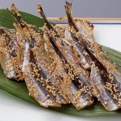 Sesame crusted fish jerky-A