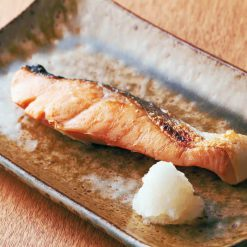 Sliced and salted young chum salmon-A