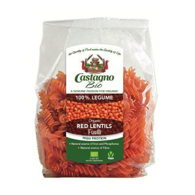 Castagno Organic Red Lentils Fusilli