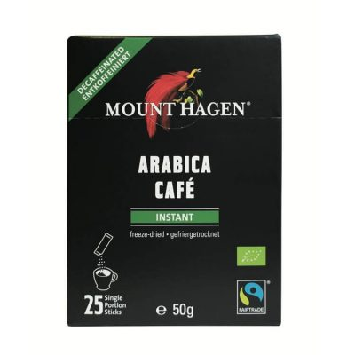 MOUNT HAGEN Organic Instant Decaffeinated Coffee single serve