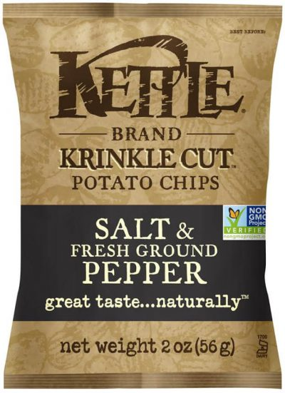 Kettle Salt & Fresh Ground Pepper - Krinkle Cut Potato Chips