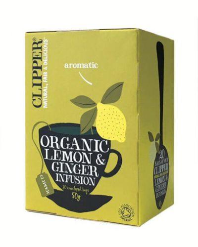 Clipper Organic Lemon & Ginger (20 tea bags)