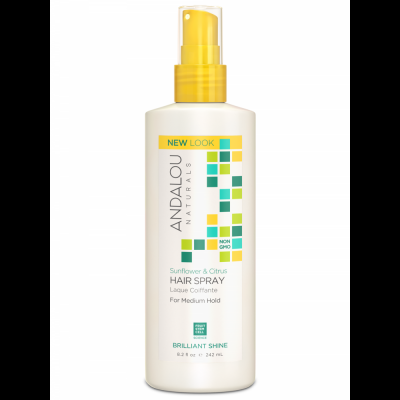 Sunflower & Citrus Brilliant Shine Hair Spray by Andalou