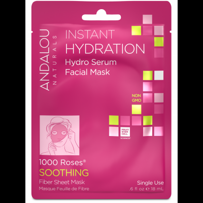 Instant Hydration Facial Sheet Mask by Andalou