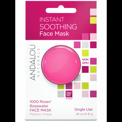 Instant Soothing Face Mask Pod – 1000 Roses Rosewater Face Mask by Andalou