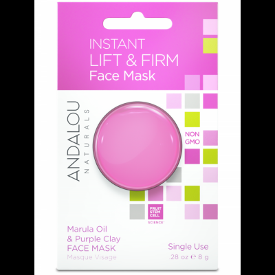 Instant Lift & Firm Clay Mask Pod - Marula Oil & Purple Clay Face Mask by Andalou