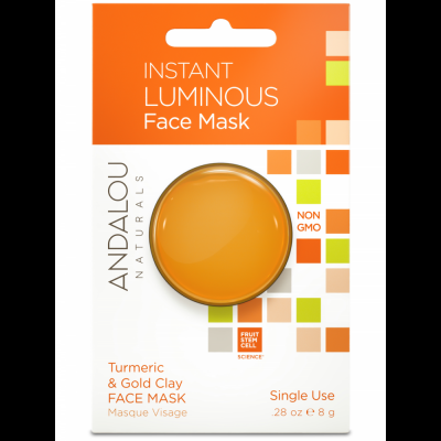 Instant Luminous Clay Mask Pod - Turmeric & Gold Clay Face Mask by Andalou