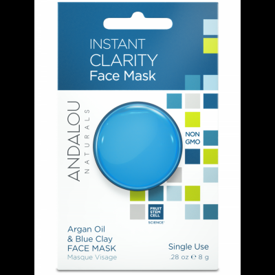 Instant Clarity Clay Mask Pod - Argan Oil & Blue Clay Face Mask by Andalou