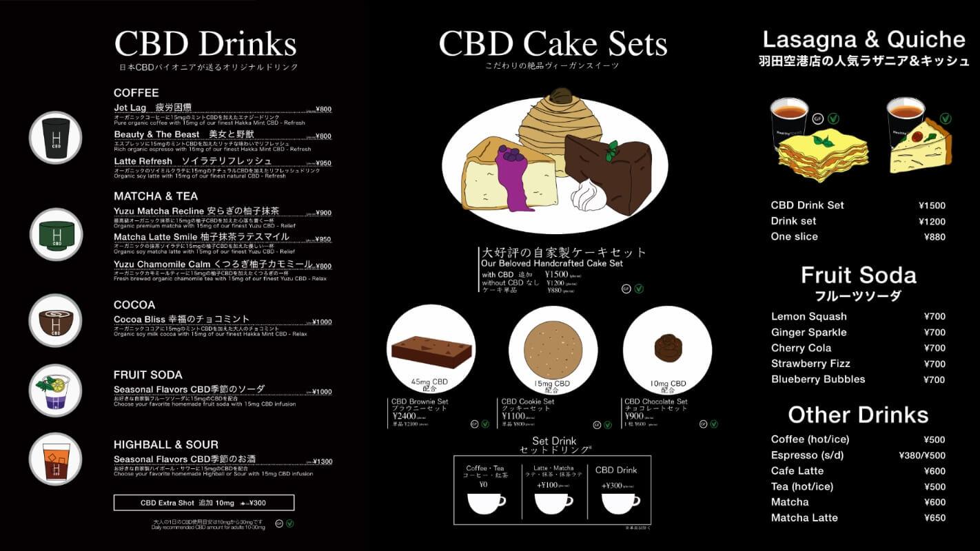 Harajuku menu 2020 summer HealthyTOKYO CBD