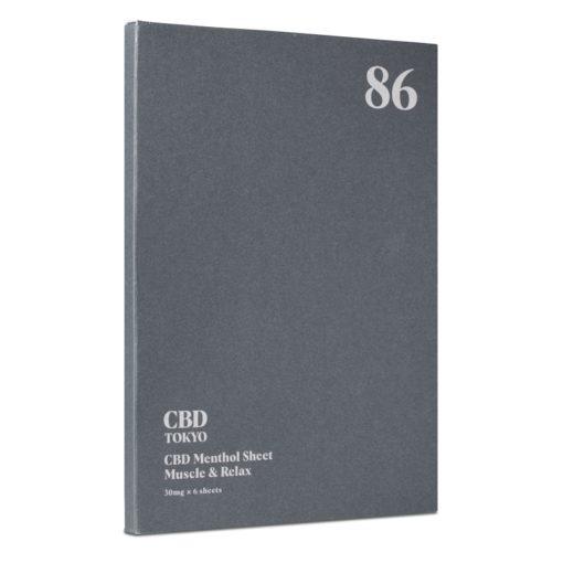 CBD patch muscle sheet CBDTokyo 89 front