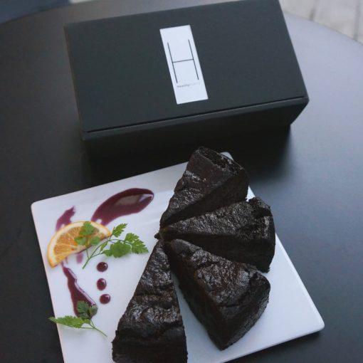 Choco cake set healthytokyo vegan