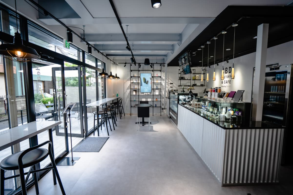 HealthyTOKYO CBD Factory and Cafe Edogawa inside