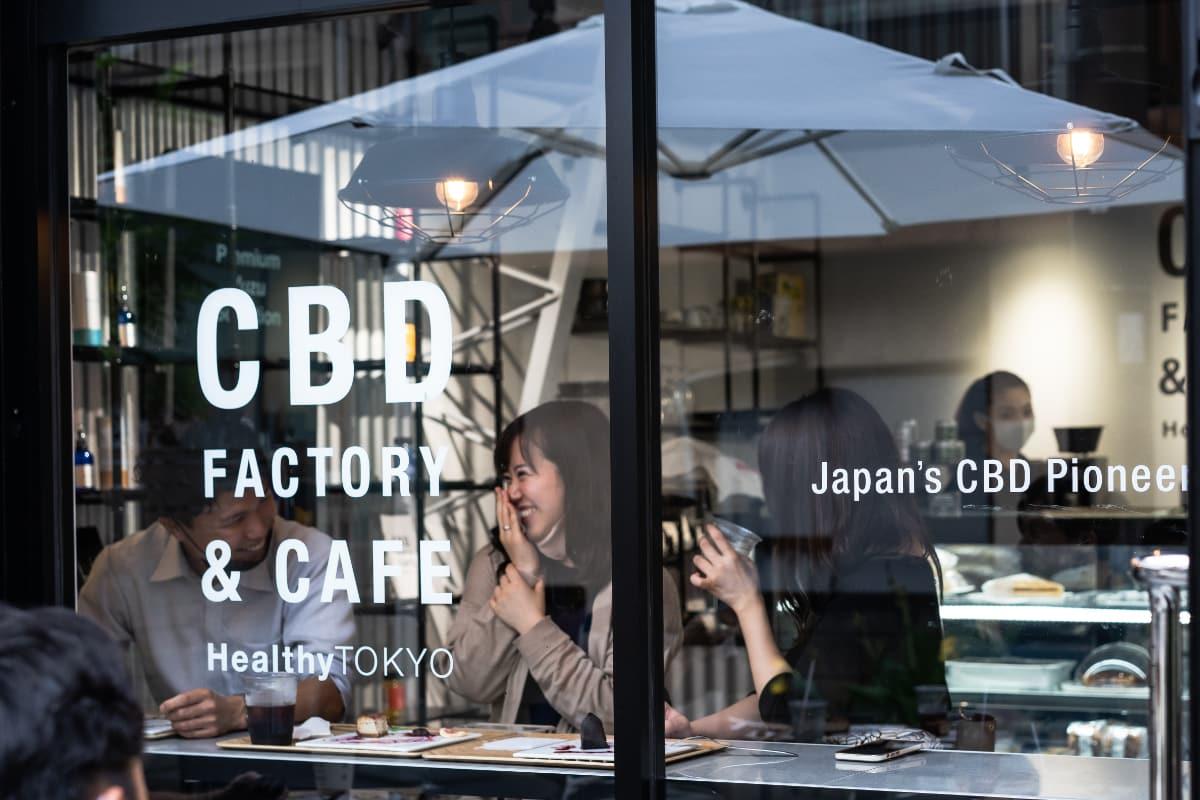HealthyTOKYO CBD Factory and Cafe Edogawa window
